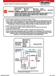 pump selection trane ≤ 33′ head rectorseal verify pump capacity · wiring diagram