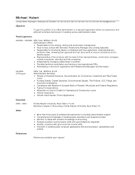 Admin Resume Objective Examples Office Manager Sample Uncategorized