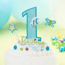 1st Birthday Caketop Baby Boy First Birthday Cake Topper Blue