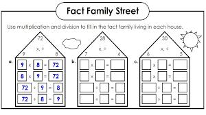 Math Worksheets Fact Families | Kiddo Shelter