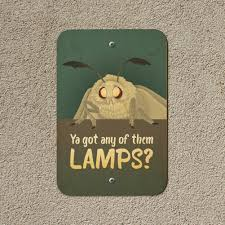 Details About Moth Lamp Meme Home Business Office Sign