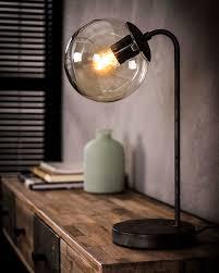 Tafellamp Kemal Met Glazen Bol Deverlichtingszaaknl
