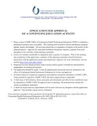 Application For Approval Of A Continuing Education Activity