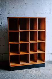 vintage retro mid century wooden pigeon holes pigeonholes shoe storage shelving display