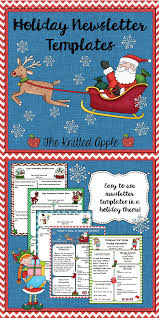 free holiday newsletter template holiday newsletter templates freebie tpt free lessons