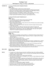 Resume Scan CT Scan Technologist Resume Samples Velvet Jobs 4