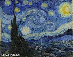the starry night oil painting