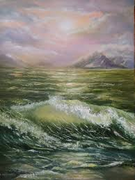 storm sea painting coast beach painting sea by svetlanamatevosjan