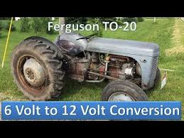 ferguson to volt to volt conversion ferguson to 20 6 volt to 12 volt conversion