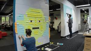 star wars mural sticky notes office viking gif