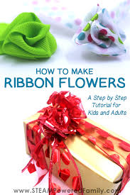 How To Make A Paper Ribbon Flower How To Make Ribbon Flowers A Step By Step Tutorial For Kids And Adults