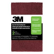 3m 3 7 8 In X 6 In X 5 16 In 9 84 Cm X 15 2 Cm X 0 79 Cm Very Fine Hand Sanding Pads 2 Pack