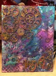 mixed media canvas.  Media How To Create A Colorful Mixed Media Canvas Using Minx Intended M