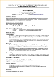 Resume For Part Time Job Useful Resumes Examples With Additional