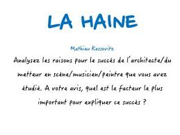 a level french la haine quel est le facteur le plus important  a level french la haine quel est le facteur le plus important pour le succes du film model essay by paul 1982 teaching resources tes
