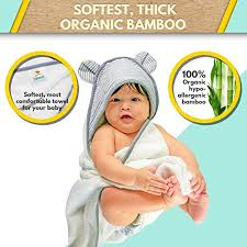 Premium Bamboo Hooded Baby Towel and Washcloth Set, Extra Soft ...