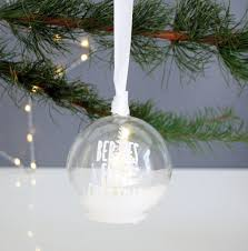 Personalised Light Up Christmas Baubles Personalised Snowy Woodland Light Up Christmas Bauble