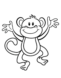 Free Printable Monkey Coloring Page Cj 1st Birthday Monkey