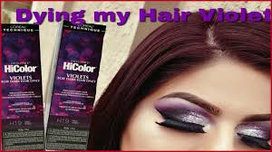 hair color for dark hair only 416450 diy hair coloring at home using the new loreal hicolor violets