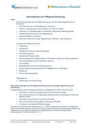 Entlastungsbetrag, nach vorlage der entsprechenden belege. Leitfaden Pflegeversicherung Pdf Mittelstand Und Familie