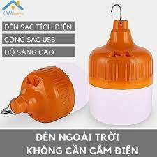 Đèn Led sạc tích điện dạng Bóng Bulb sử dụng pin tiêu chuẩn 18650 Chọn Công  suất 40/60/100W mã 37001