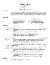 resume makeup artist resumes commonpenceco resume exles exle senior template free objective mac professional freelance