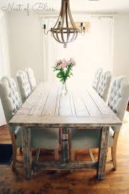 rustic dining table with tufted wicker emporium dining chairs nest of bliss