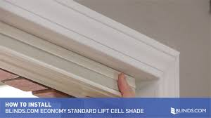 how to install inside mount economy cellular shades with standard