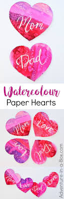 Painting Watercolour Hearts with Kids