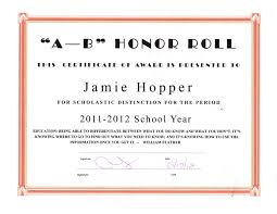 Bunch Ideas Of High School Honor Roll Certificate Template On