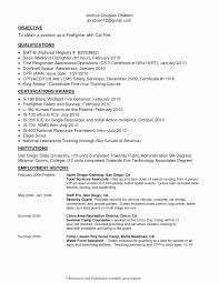 Stunning Fire Fighter Resume Pictures Simple Resume Office