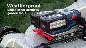 bosch professional cordless garden tools lawnmowers weatherproof you