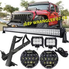for jeep wrangler jk 52 4 led light bar mount bracket wiring kit 7 details about for jeep wrangler jk 52 4 led light bar mount bracket wiring kit 7 headlights
