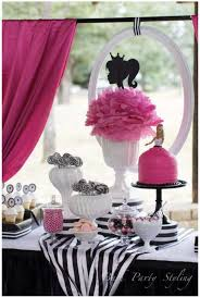 pink black barbie party ideas on love