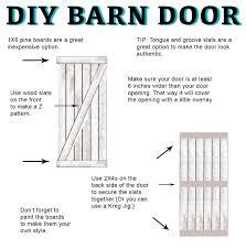 Barn Door Plans Diy Home Design Diy Interior Barn Door Plans Countertops Building