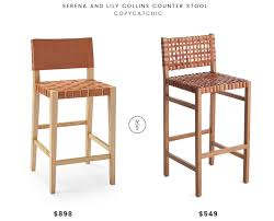 serena and lily collins counter stool 849 vs wisteria natura stool 549 woven leather
