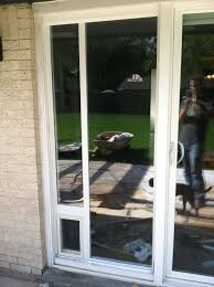 picture of dog door installation sliding glass door