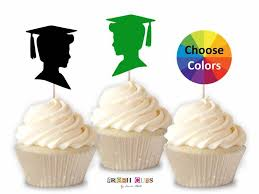 Boy Graduation Cupcake Toppers Straw Toppers Diy Graduation Etsy
