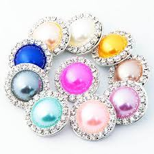 2019 mix colors rhinestone 18mm pearl snap on hot whole charm on ginger snaps jewelry diy making from pineyin 0 71 dhgate