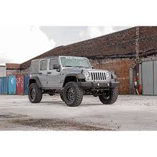 rough country suspension lift kit 4 with shocks 4 door jeep wrangler jk 2007