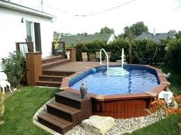 above ground round pool with deck. Beautiful Ground Above Ground Pools And Deck Pool Designs  With Impressive Round  Intended N