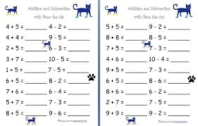 math worksheets kindergarten addition and subtraction addition and ...