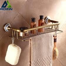 wall mount corner shelf fashion antique brass bathroom shelf wall mounted corner shelf basket towel bar wall mount corner shelf