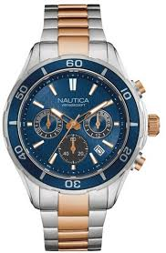men s nautica stainless chronograph 46mm watch nad21508g