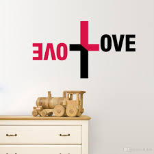 love vinyl quote wall decal sticker christian religious cross wall art home decor on christian vinyl wall art quotes with love vinyl quote wall decal sticker christian religious cross wall