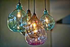 blown glass pendant light fixtures