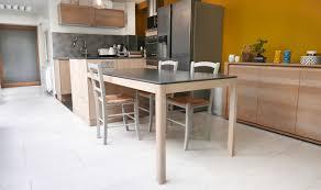 Ilot Cuisine Avec Table Coulissante Design De Maison