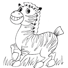 Inspired by beautiful zebra lines, these three coloring pattern pages will provide hours of fun for the whole family. Happy Zebra Coloring Page Free Printable Coloring Pages For Kids