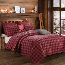 king quilt sets buffalo plaid quilt