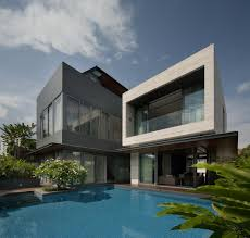 modern houses architecture.  Modern Modern Dark And Bright Facade White Home Swimming Pool  Top_50_Modern_House_Designs_Ever_Built_featured_on_architecture_beast_26 With Houses Architecture M